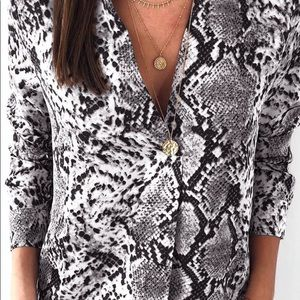 Tops - Snakeskin Print Top